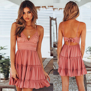 Coming Soon Pink Halter Mini Dress